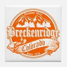 Breckenridge Old Orange Tile Coaster