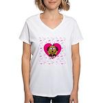 Puppy Love Valentine's Women's V-Neck T-Shirt