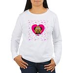 Puppy Love Valentine's Women's Long Sleeve T-Shirt