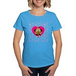 Puppy Love Valentine's Women's Dark T-Shirt