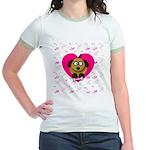 Puppy Love Valentine's Jr. Ringer T-Shirt