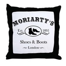 Moriarty's Shoe Shop Throw Pillow