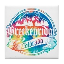 Breckenridge Old Tie Dye Tile Coaster