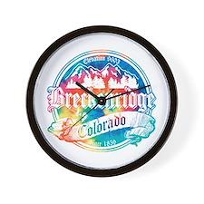 Breckenridge Old Tie Dye Wall Clock