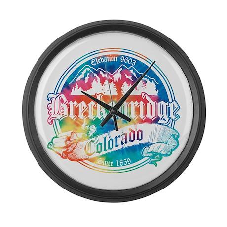 Breckenridge Old Tie Dye Large Wall Clock