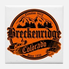 Breckenridge Old Black & Orange Tile Coaster