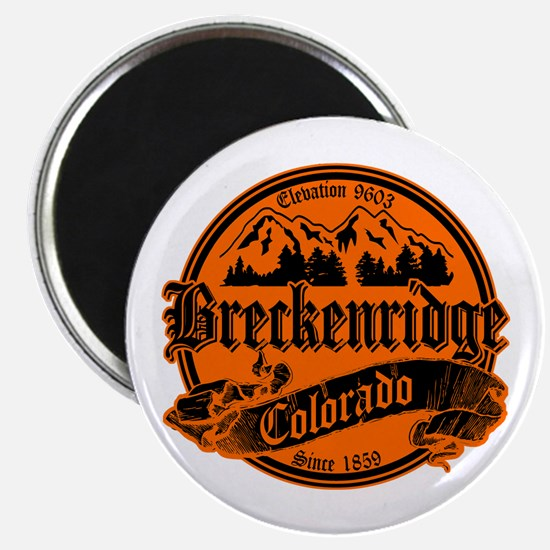 Breckenridge Old Black & Orange Magnet