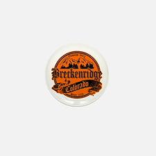 Breckenridge Old Black & Orange Mini Button