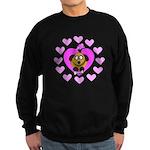 Puppy Love In Pink Sweatshirt (dark)