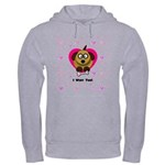 Puppy Love In Pink Hooded Sweatshirt