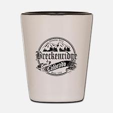 Breckenridge Old Black & White Shot Glass