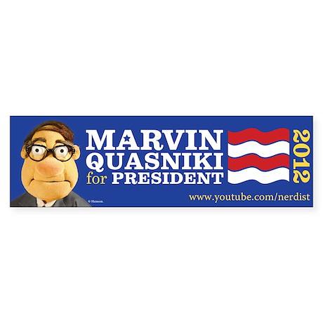 Marvin Quasniki Sticker (Bumper)