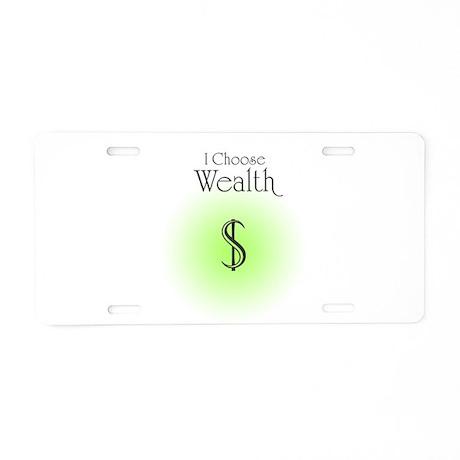 Wealth Aluminum License Plate