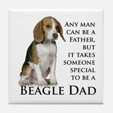 Beagle Dad Tile Coaster