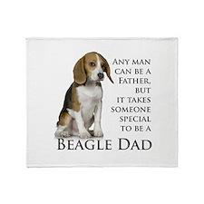 Beagle Dad Throw Blanket