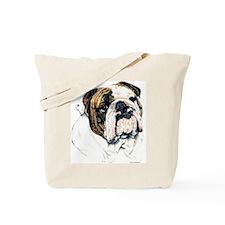 Bully Bulldog Dog Portrait Tote Bag
