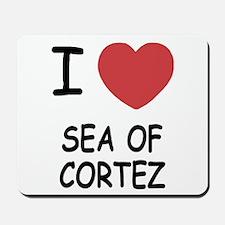 I heart sea of cortez Mousepad