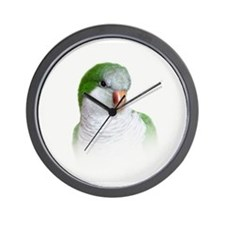Green Quaker Parrot Wall Clock