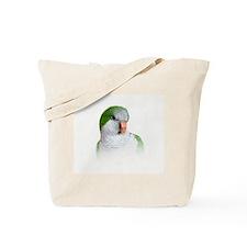 Green Quaker Parrot Tote Bag