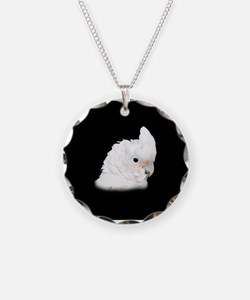 Goffin Cockatoo Necklace Circle Charm