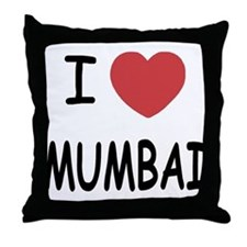I heart mumbai Throw Pillow