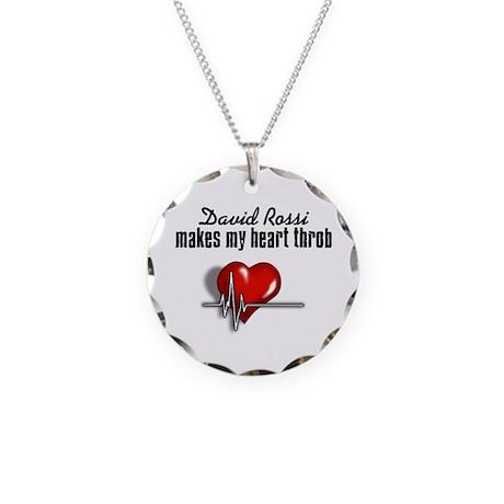David Rossi makes my heart throb Necklace Circle C