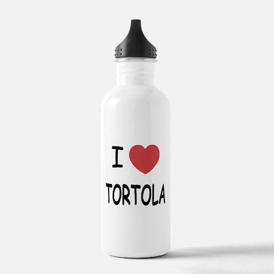 I heart tortola Water Bottle