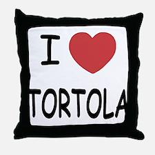 I heart tortola Throw Pillow