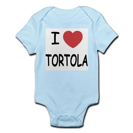 I heart tortola Infant Bodysuit