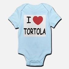 I heart tortola Infant Bodysuit