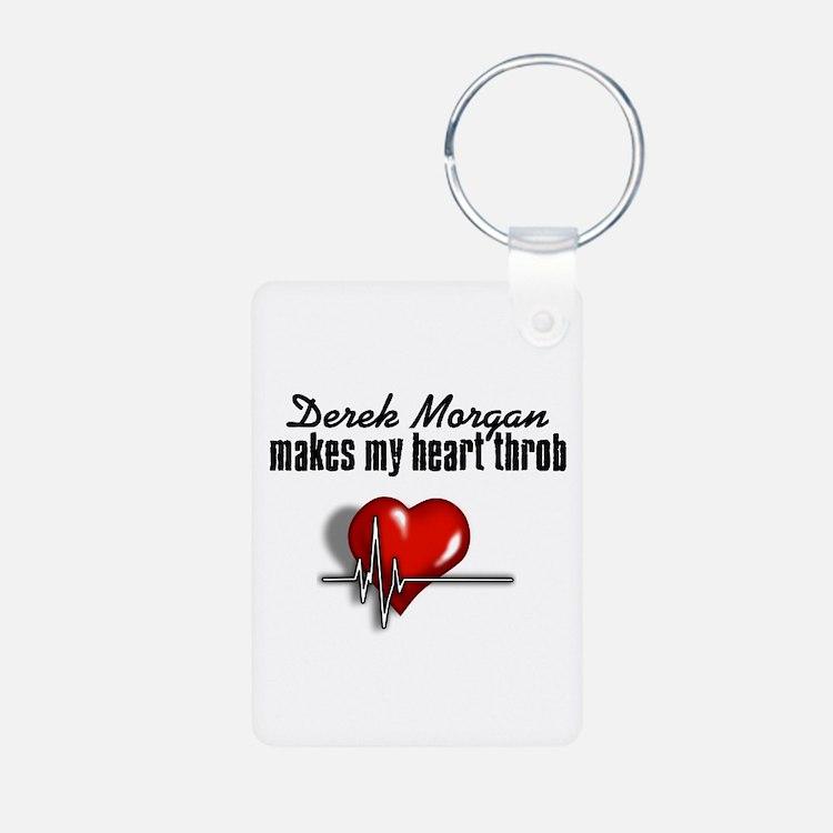Derek Morgan makes my heart throb Keychains