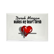 Derek Morgan makes my heart throb Rectangle Magnet