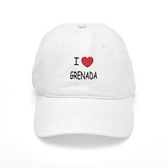 I heart grenada Baseball Cap