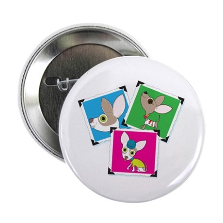 """Chihuahua Photographs 2.25"""" Button (10 pack)"""