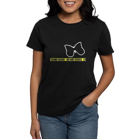 Butterfly Crime Scene Women's Dark T-Shirt