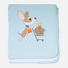 Chihuahua Shopping baby blanket