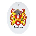 Dawkins Coat of Arms Oval Ornament