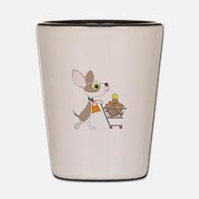 Chihuahua Shopping Shot Glass
