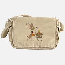 Chihuahua Shopping Messenger Bag