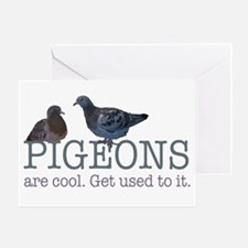 Pigeons are cool Greeting Card