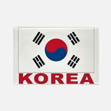 Korea Flag Rectangle Magnet