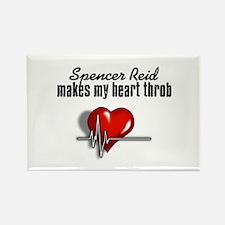 Spencer Reid makes my heart throb Rectangle Magnet