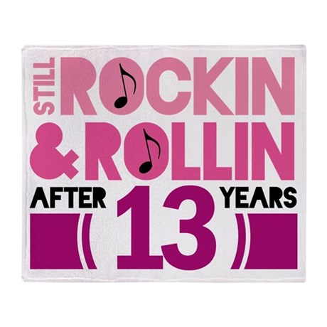 13th Anniversary Funny Gift Throw Blanket