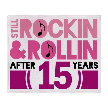 15th Anniversary Funny Gift Throw Blanket