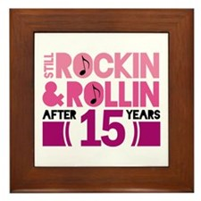 15th Anniversary Funny Gift Framed Tile