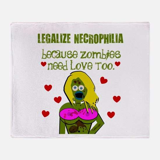 Necrophilia Zombie Love Throw Blanket