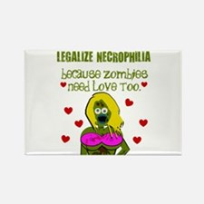 Necrophilia Zombie Love Rectangle Magnet