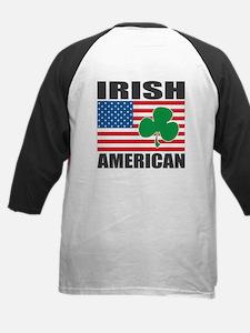 Irish American Flag Kids Baseball Jersey