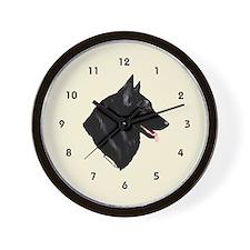 Belgian Shepherd Wall Clock (cream)