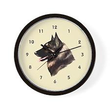 Belgian Shepherd Tervuren Wall Clock (cream)